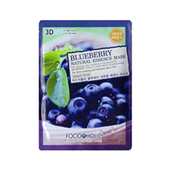 Тканевая маска FoodaHolic Blueberry Natural Essence 3D Mask (Объем 23 г)
