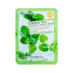 Тканевая маска FoodaHolic Green Tea Natural Essence 3D Mask (Объем 23 г)