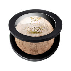 Бронзатор Kiss All Over Glow Bronzing Powder ABP01 (Цвет ABP01 Light variant_hex_name DEA483) бронзеры kiss kiss бронзирующая пудра deep glow face