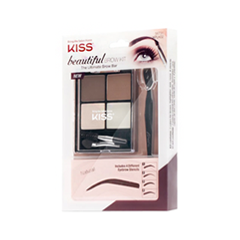 Набор для бровей Kiss Beautiful Brow Kit (Цвет KPLK02C variant_hex_name 7B625B)