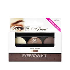 Go Brow Eyebrow Kit RBKT02 (Цвет RBKT02 Dark Brown variant_hex_name 8C6A61)