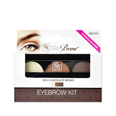 Набор для бровей Kiss Go Brow Eyebrow Kit RBKT03 (Цвет RBKT03 Rich Chocolate Brown  variant_hex_name A4674B)