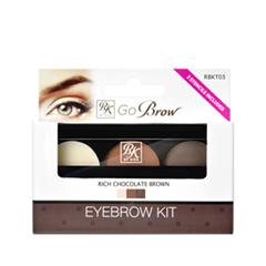 ����� ��� ������ Kiss Go Brow Eyebrow Kit RBKT03 (���� RBKT03 Rich Chocolate Brown )
