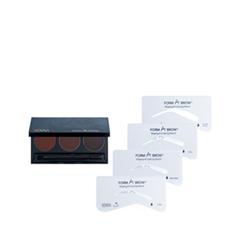 Набор для бровей Senna Cosmetics Набор для коррекции бровей Form-A-Brow Eyebrow Stencil Kit Dark (Цвет Dark variant_hex_name 6C383E)