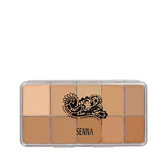 Для лица Senna Cosmetics Slipcover Cream to Powder Palette Foundation 01 (Цвет 01 Light-Medium variant_hex_name D3A27A)
