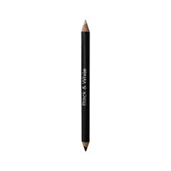 Карандаш для глаз Just Make Up Вlack & White  Eyeliner Pencil  711 (Цвет 711 variant_hex_name 222023) уход за ногтями essence nail white pencil цвет white variant hex name edecf1