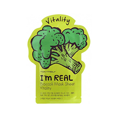 Тканевая маска Tony Moly I'm Real Broccoli Mask Sheet (Объем 21 мл) tony moly sheet gel mask pureness 100 collagen маска тканевая с экстрактом коллагена 21 мл