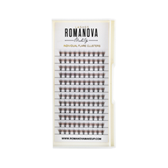 Накладные ресницы Romanova MakeUp Пучки F-Short 8 мм