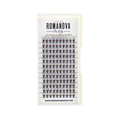 Накладные ресницы Romanova MakeUp Пучки F-Long 12 мм