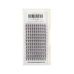Накладные ресницы Romanova MakeUp Пучки F-Medium 10 мм