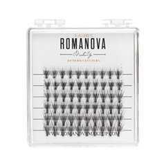 Накладные ресницы Romanova MakeUp Пучки F-Mix Mini