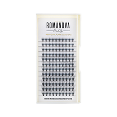 Накладные ресницы Romanova MakeUp Пучки F-Mix