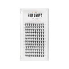 Накладные ресницы Romanova MakeUp Пучки M-Medium 10 мм