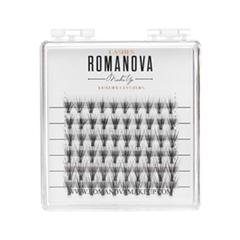 Накладные ресницы Romanova MakeUp Пучки M-Mix Mini