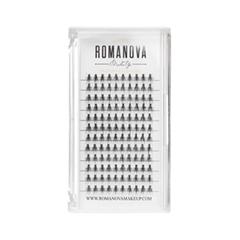 Накладные ресницы Romanova MakeUp Пучки M-Short 8 мм