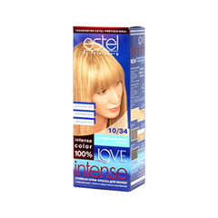 Краска для волос Estel Professional Love Intense 10/34 (Цвет 10/34 Блондин солнечный variant_hex_name E3B383)