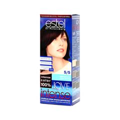 Краска для волос Estel Professional Love Intense 5/5 (Цвет 5/5 Красная ночь variant_hex_name 763646)
