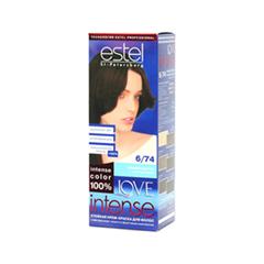 Краска для волос Estel Professional Love Intense 6/74 (Цвет 6/74 Темный каштан variant_hex_name 4C3638)