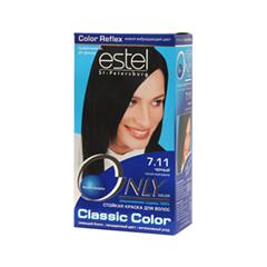 Краска для волос Estel Professional Only Color 7.11 (Цвет 7.11 Черный variant_hex_name 050304)