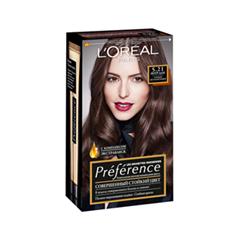Краска для волос L'Oreal Paris Prafarence 4.12 (Цвет 4.12 Монмартр Глубокий коричневый variant_hex_name 664C4D)