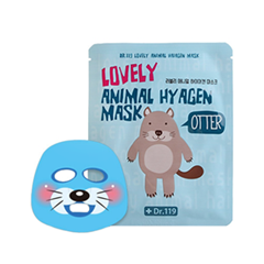 Тканевая маска Baviphat Dr.119 Lovely Animal Hyagen Mask (Объем 25 мл) тонизирующая тканевая маска baviphat dr 119 farewell my concubine yellow lucky mask