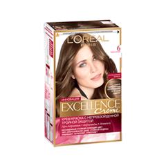 Краска для волос LOreal Paris Excellence 6 (Цвет 6 Тёмно-русый variant_hex_name 76553F)