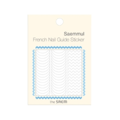 Дизайн ногтей The Saem Наклейки French Nail Guide Sticker 01 (Цвет 01 Zig Zag variant_hex_name EFEEEF)