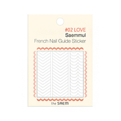 Дизайн ногтей The Saem Наклейки French Nail Guide Sticker 02 (Цвет 02 Love variant_hex_name EFEEEF)