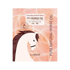 Тканевая маска The Saem Pure Natural Mask Sheet Horse Oil (Объем 22 мл)