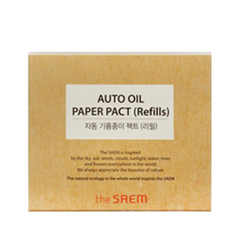Салфетки The Saem Auto Oil Paper Pact Refills (Объем 50 шт.)