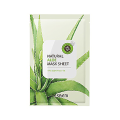 Тканевая маска The Saem Natural Aloe Mask Sheet (Объем 21 мл) the saem natural gold kiwi mask sheet объем 21 мл