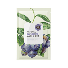 Тканевая маска The Saem Natural Blueberry Mask Sheet (Объем 21 мл) the saem natural gold kiwi mask sheet объем 21 мл