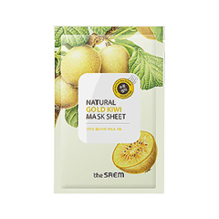 Тканевая маска The Saem Natural Gold Kiwi Mask Sheet (Объем 21 мл)