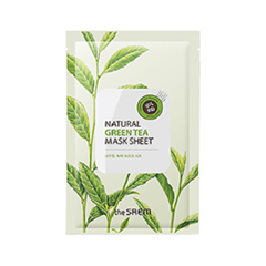 Тканевая маска The Saem Natural Green Tea Mask Sheet (Объем 21 мл) гидрофильное масло it s skin green tea calming cleansing oil объем 145 мл