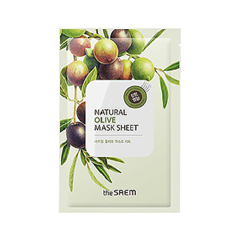 Тканевая маска The Saem Natural Olive Mask Sheet (Объем 21 мл)