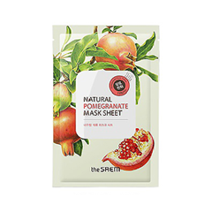 Тканевая маска The Saem Natural Pomegranate Mask Sheet (Объем 21 мл) missha pure source sheet mask pomegranate объем 21 г