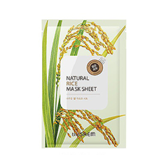 Тканевая маска The Saem Natural Rice Mask Sheet (Объем 21 мл) the saem pure natural mask sheet donky milk