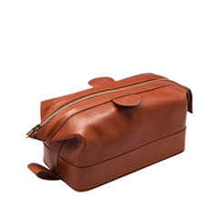 Косметички Truefitt&Hill Gentleman`s Wash Bag Tan (Цвет Tan variant_hex_name A03D1E)