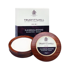 Для бритья Truefitt&Hill Люкс-мыло Sandalwood Luxury Shaving Soap In Wooden Bowl (Объем 99 г)
