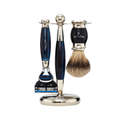Для бритья Truefitt&Hill Набор Edwardian Set Faux Blue Opal: Badger Brush Fusion Razor Stand (Цвет Faux Blue Opal variant_hex_name 031C44) zy best men straight shaving razor set zy430 cut throat leather sharpening strop stand shave beard badger brush bowl