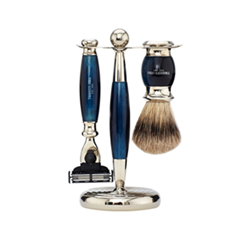 ��� ������ Truefitt&Hill ����� Edwardian Set Faux Blue Opal: Badger Brush Mach III Razor Stand (���� Faux Blue Opal)