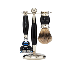 Для бритья Truefitt&Hill Набор Edwardian Set Faux Ebony: Badger Brush Fusion Razor Stand (Цвет Faux Ebony variant_hex_name 131217) zy best men straight shaving razor set zy430 cut throat leather sharpening strop stand shave beard badger brush bowl