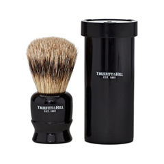 Помазки Truefitt&Hill Tube Traveler Shave Brush Faux Ebony Super Badger (Цвет Faux Ebony variant_hex_name 0F0D0E) zy best men straight shaving razor set zy430 cut throat leather sharpening strop stand shave beard badger brush bowl