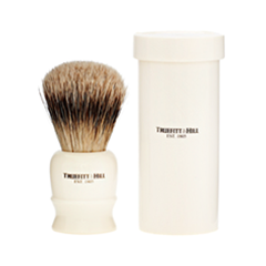 Помазки Truefitt&Hill Tube Traveler Shave Brush Faux Ivory Super Badger (Цвет Faux Ivory variant_hex_name F4EAD1) zy best men straight shaving razor set zy430 cut throat leather sharpening strop stand shave beard badger brush bowl