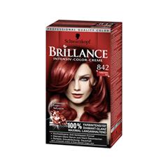 Краска для волос Schwarzkopf Brillance 842 (Цвет 842 Куба Жаркая ночь variant_hex_name 6F2A29)