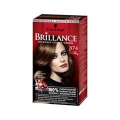 Краска для волос Schwarzkopf Brillance 874 (Цвет 874 Бархатистый каштан variant_hex_name 2F1C10)