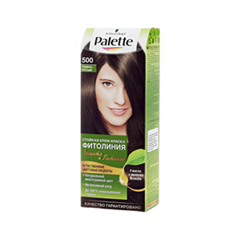 Краска для волос Schwarzkopf Palette Фитолиния 500 (Цвет 500 Темно-русый variant_hex_name 432A1D)