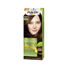 Краска для волос Schwarzkopf Palette Фитолиния 650 (Цвет 650 Ореховый каштан variant_hex_name 996045)