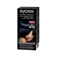 Перманентное окрашивание Syoss Syoss Color 1-4 (Цвет 1-4 Иссиня-черный  variant_hex_name 2B343E)