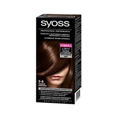 Краска для волос Syoss Syoss Color 3-8 (Цвет 3-8 Темный шоколад variant_hex_name 371E0E)